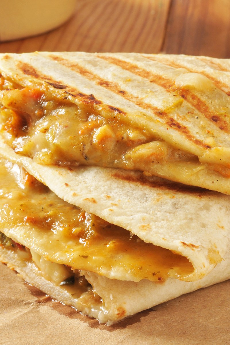 Copycat Taco Bell Chicken Quesadillas Kitchme