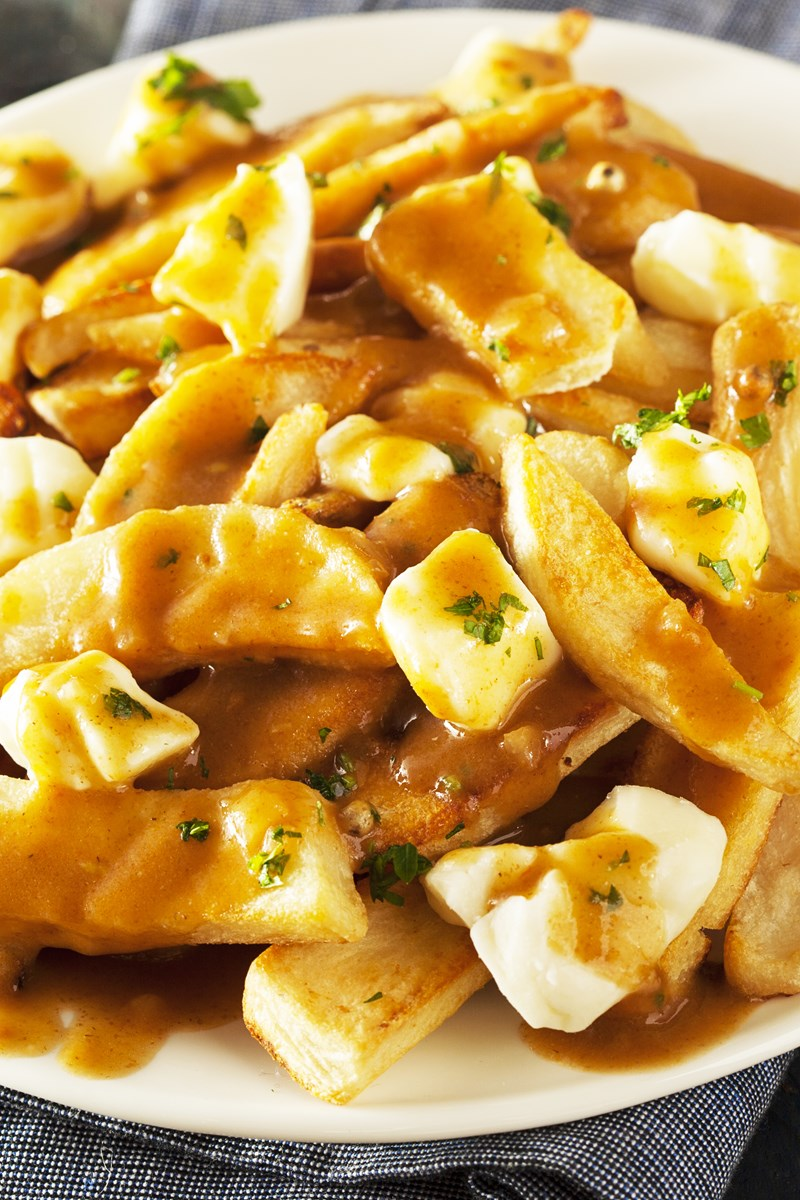 Easy Poutine Gravy Fries   Canadian Cheese Fries And Gravy