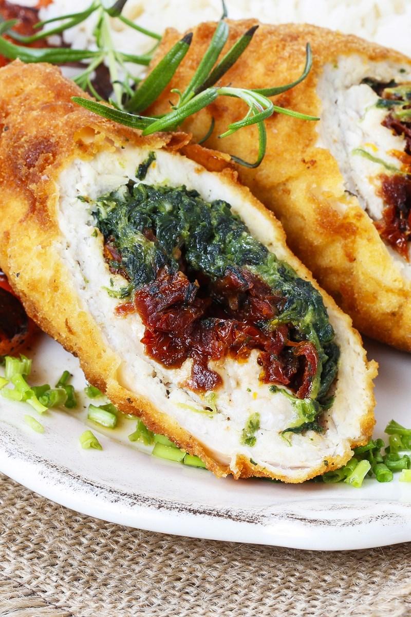 Feta Spinach Amp Sun Dried Tomato Stuffed Chicken Breasts
