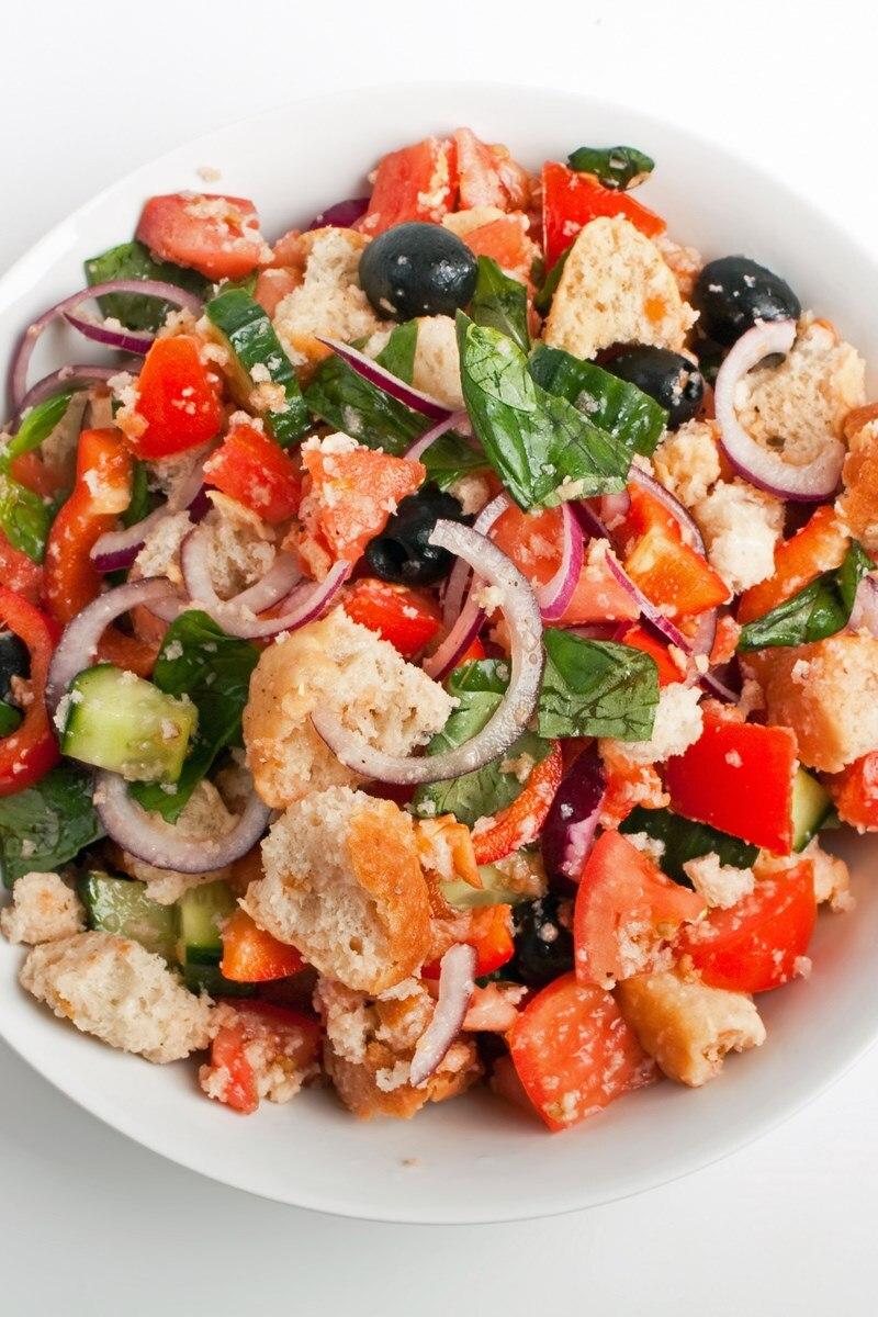 Greek Panzanella Salad Kitchme