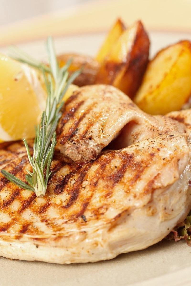 Grilled Lemon-Rosemary Chicken | KitchMe