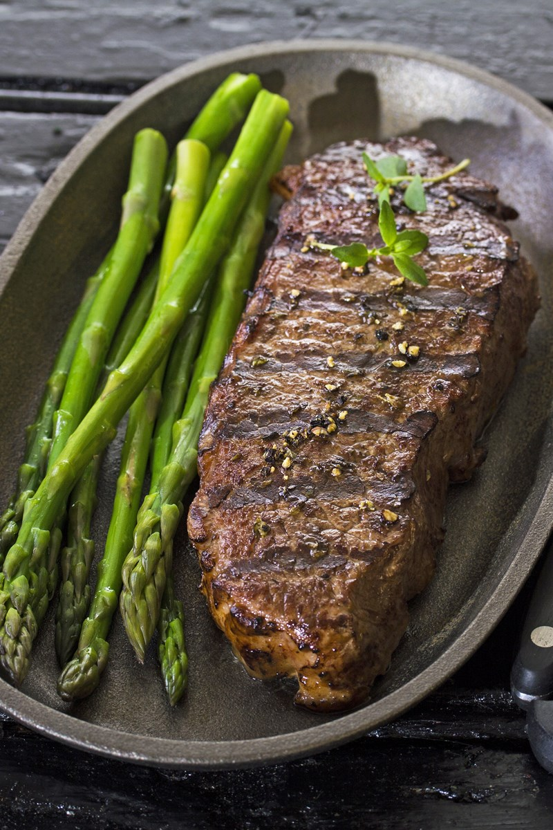 Grilled new york strip