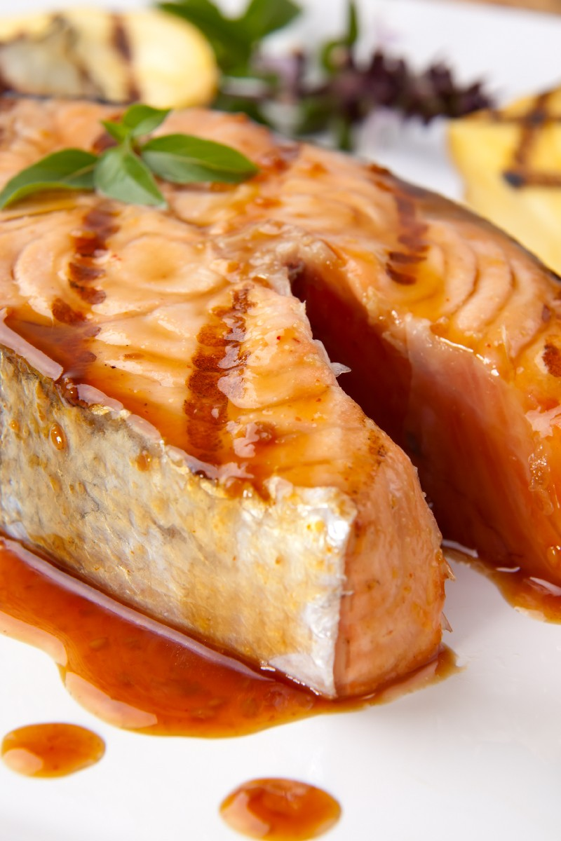Grilled Salmon with Chinese Barbeque Sauce | KitchMe
