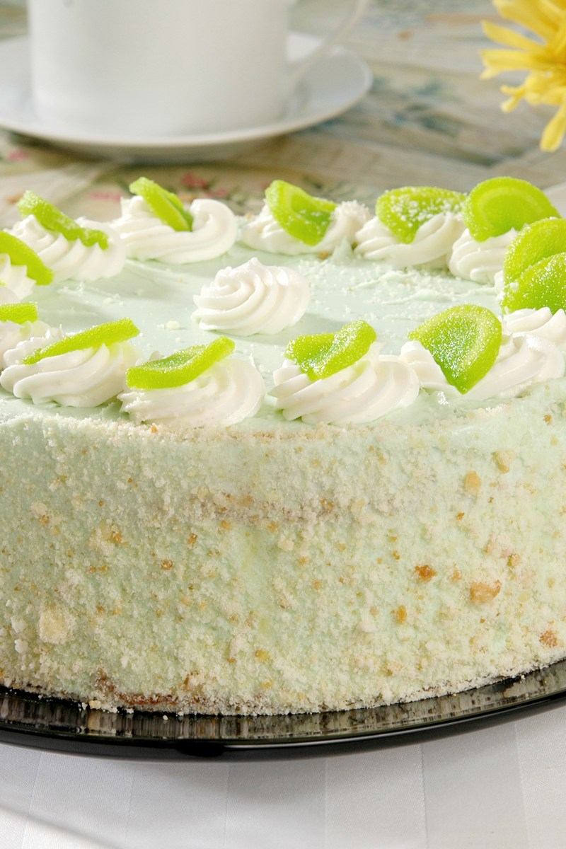 Cake With Cream Frosting : Key Lime Cake with Cream Cheese Frosting KitchMe