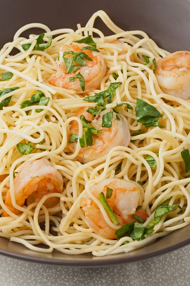Lemon Pasta with Roasted Shrimp | KitchMe