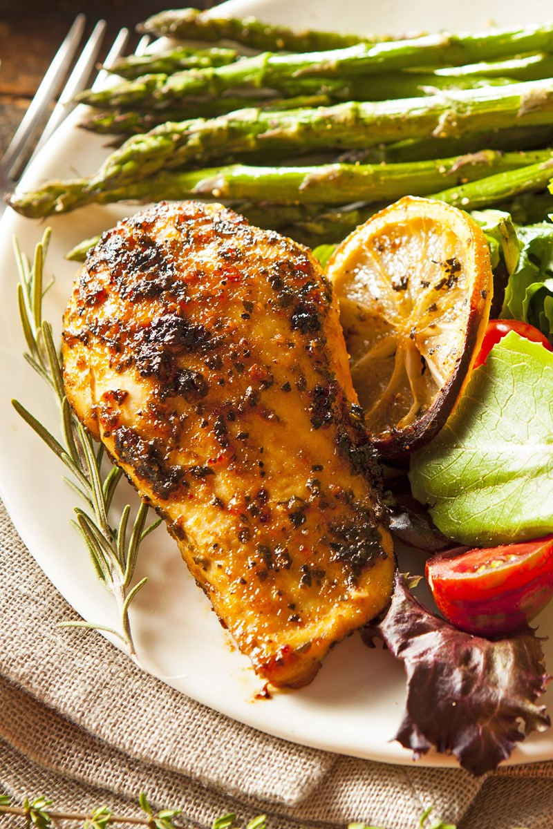 Low Calorie Lemon Herb Chicken Kitchme
