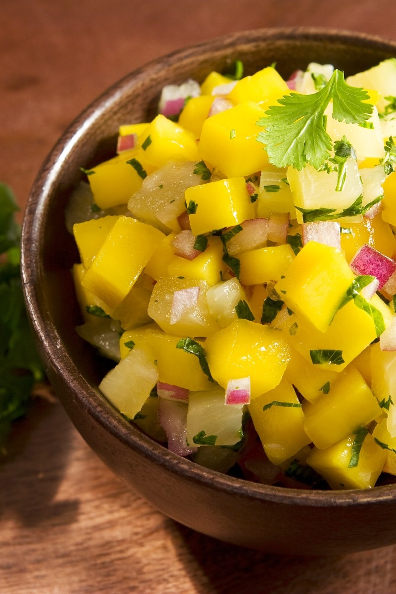 Kiwi, Mango, And Cucumber Salsa With Lime And Jalapeno ...