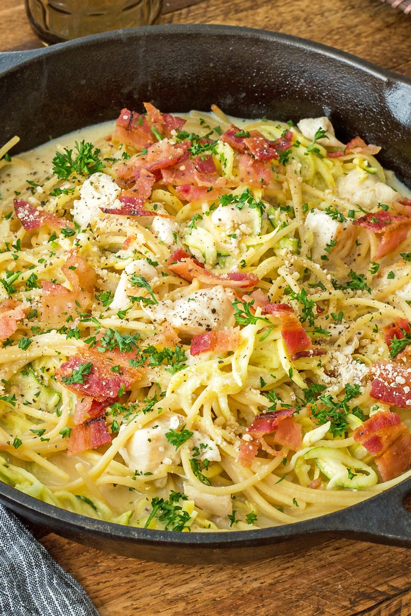 one pot recipes one pot chicken bacon alfredo weight watchers kitchme 30664