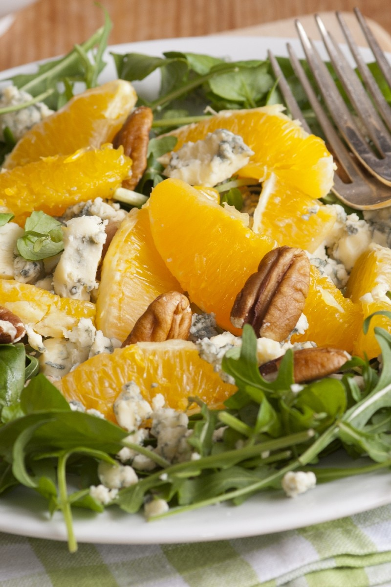 Orange, Walnut, Gorgonzola and Mixed Greens Salad with Fresh Citrus ...