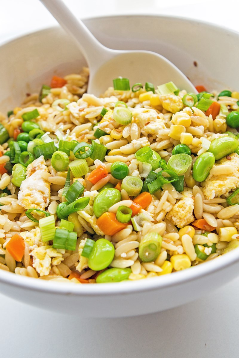 Orzo Pasta Fried Rice