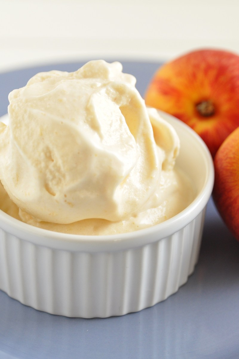 Peach Ice Cream | KitchMe
