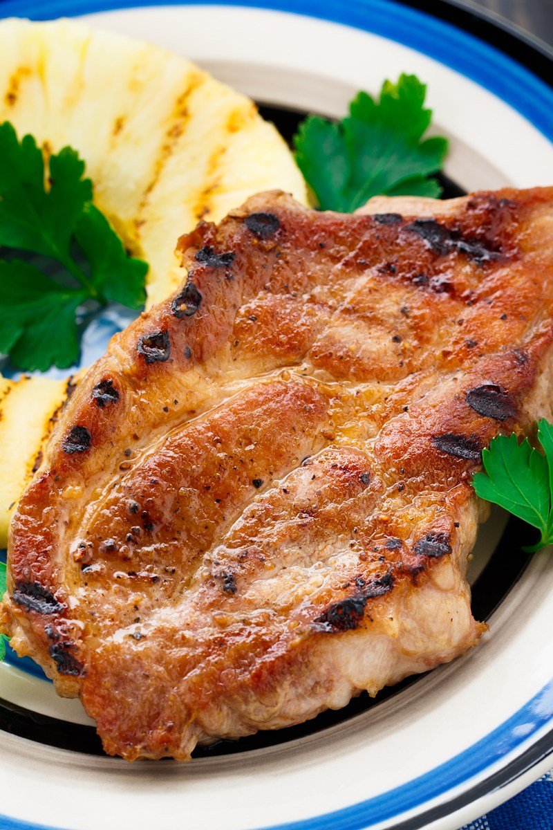Pineapple Grilled Pork Chops | KitchMe