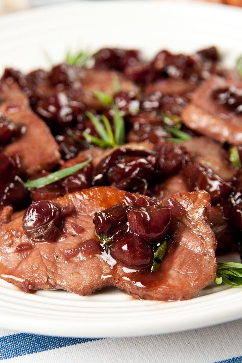 Pork Tenderloin With Balsamic-Cranberry Sauce | KitchMe