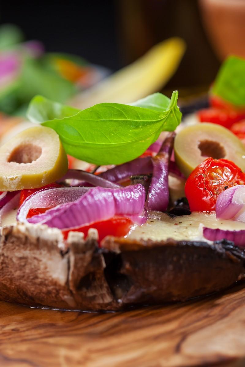 Portobello Mushroom Pizzettas Recipe — Dishmaps