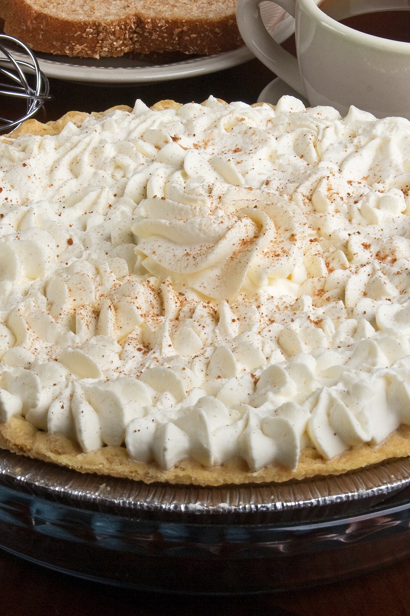 Pumpkin Cream Pie with Brown Sugar Whipped Cream | KitchMe