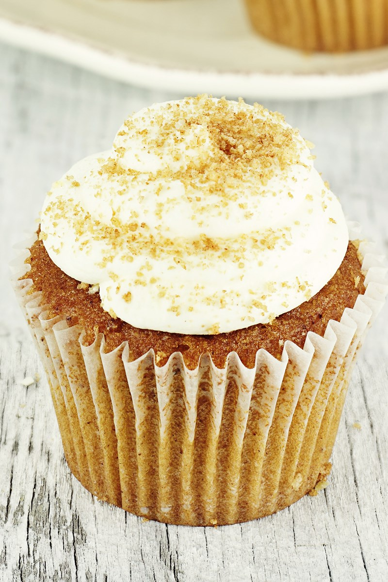 Pumpkin Cupcakes With Maple Cream Cheese Frosting Kitchme