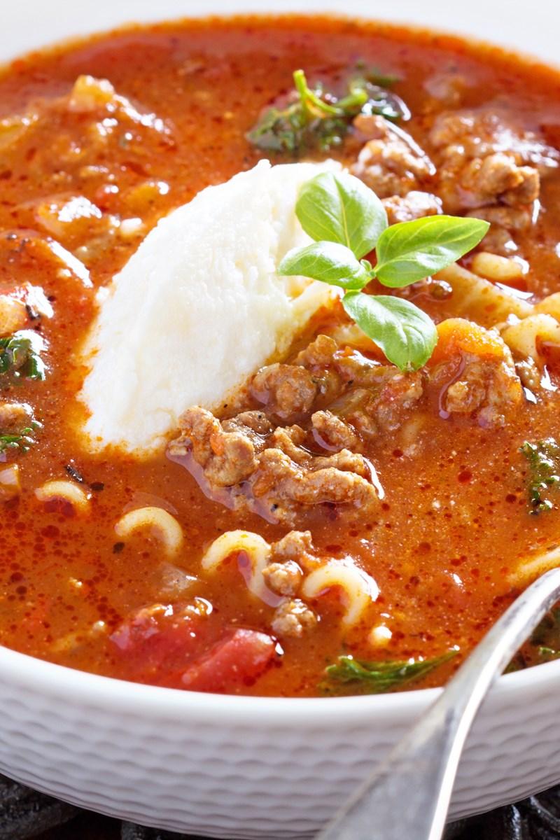 Quick One Pot Lasagna Soup Kitchme
