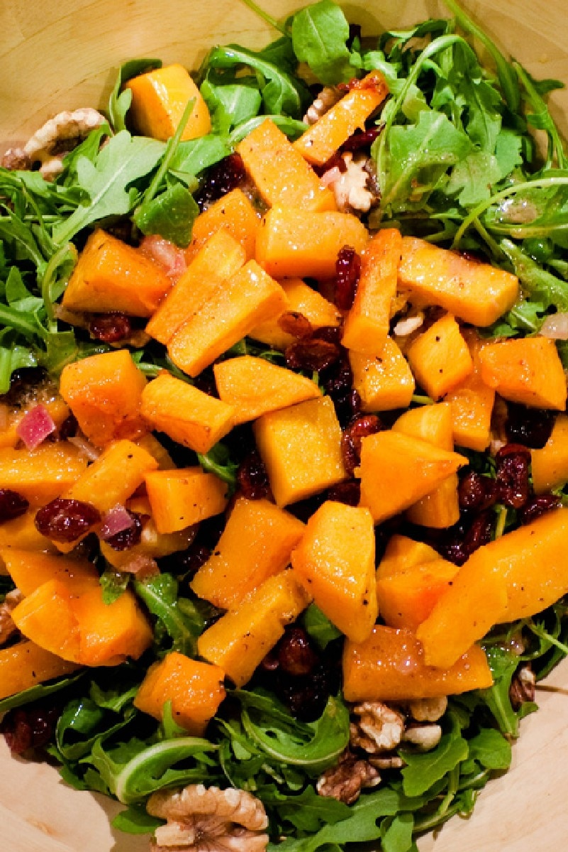 Roasted Butternut Squash Salad with Warm Cider Vinaigrette | KitchMe