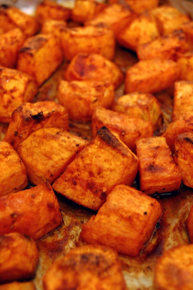 Roasted sweet potatoes with honey and cinnamon kitchme ccuart Gallery