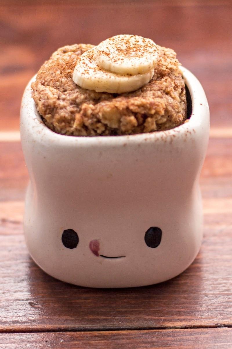 Skinny Microwave Banana Mug Cake | KitchMe