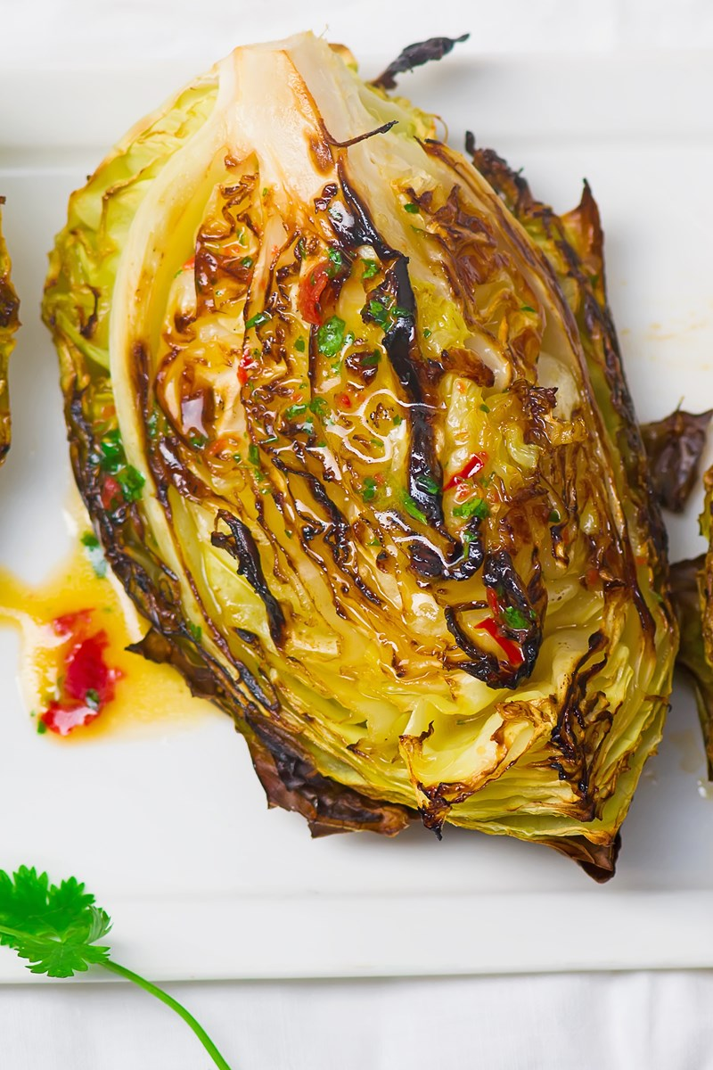 Skinny Roasted Cabbage Wedges Kitchme