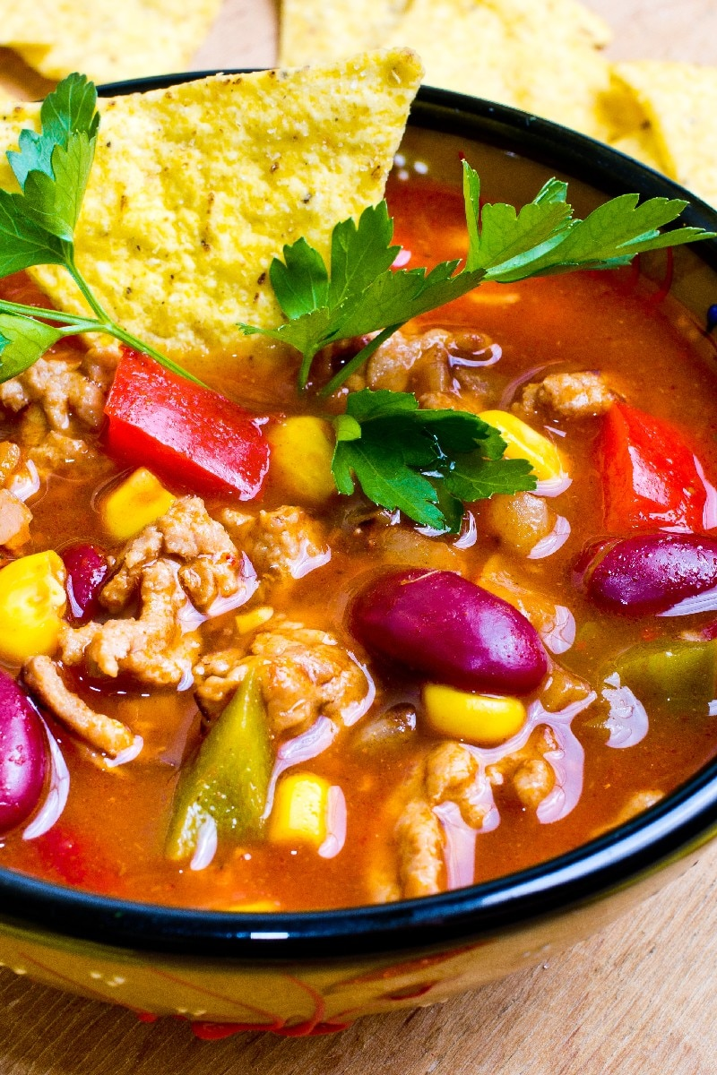 Slow Cooker Taco Soup | KitchMe