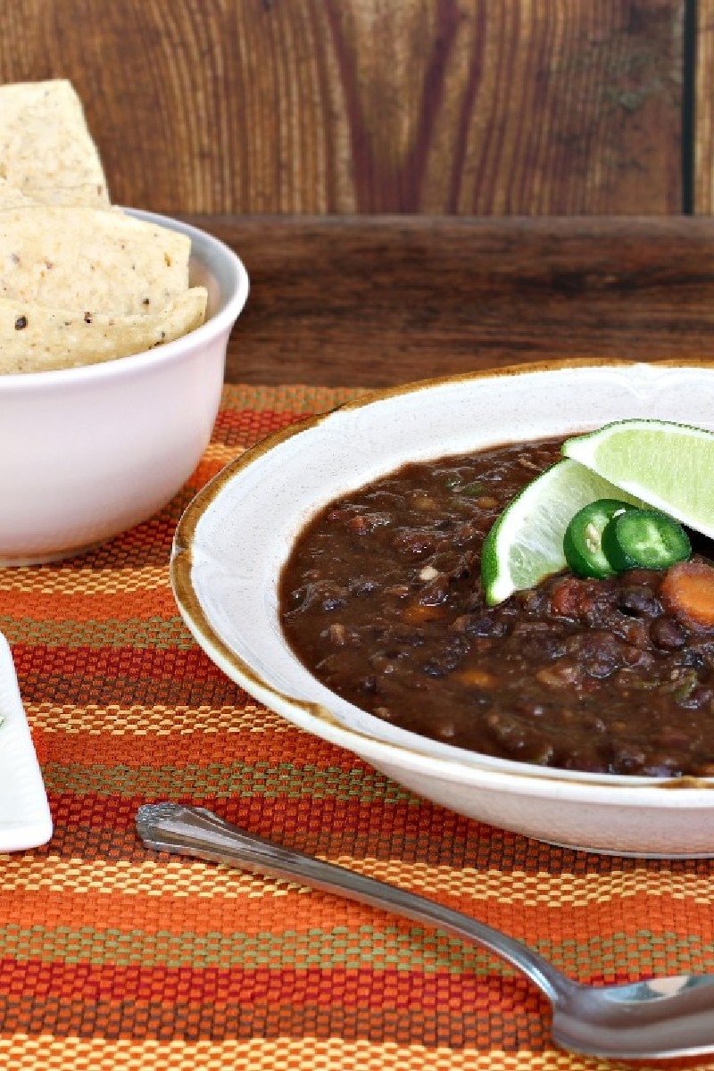 Spicy Black Bean Soup with Cumin and Jalapeno | KitchMe