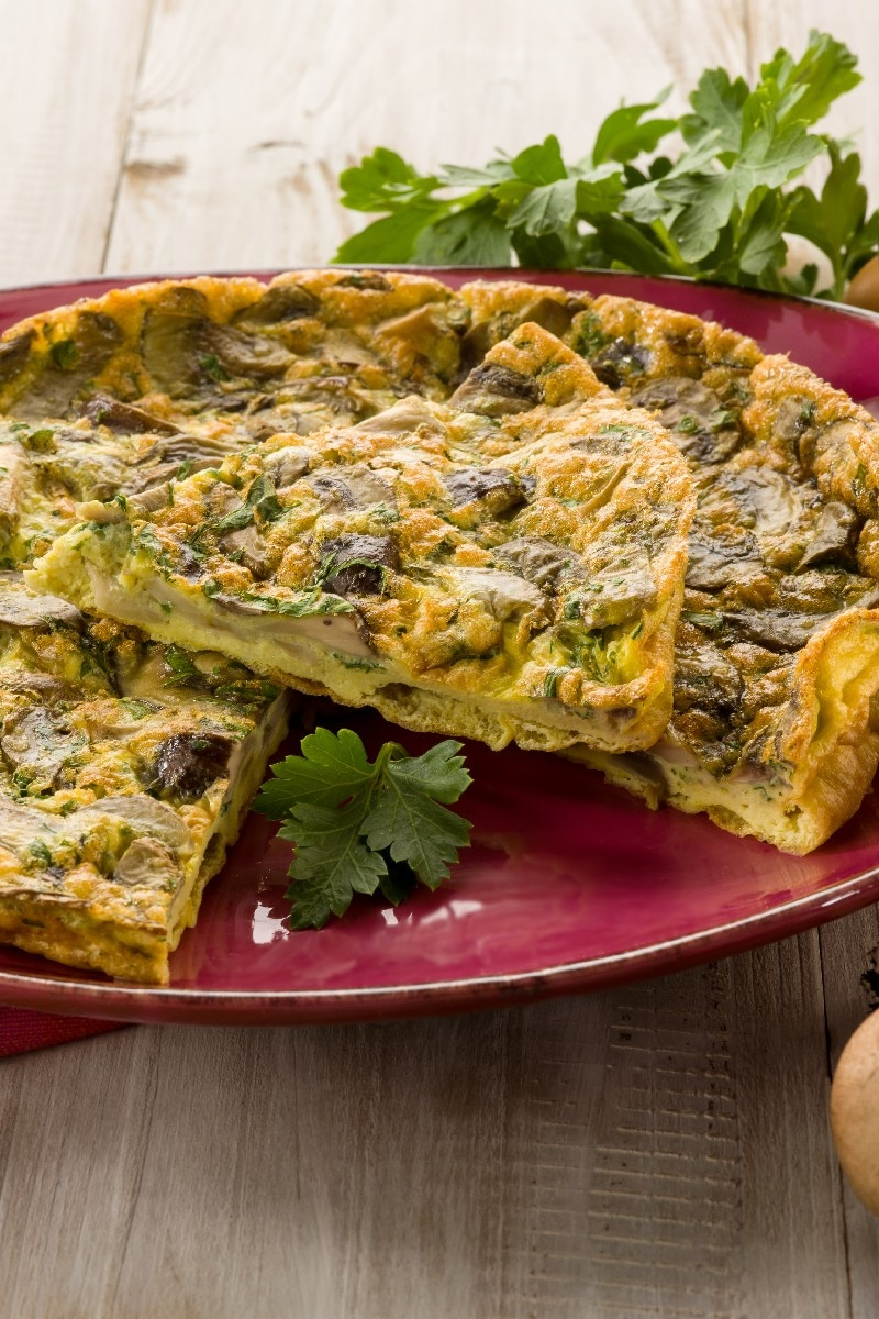 Crustless Spinach And Mushroom Quiche Weight Watchers