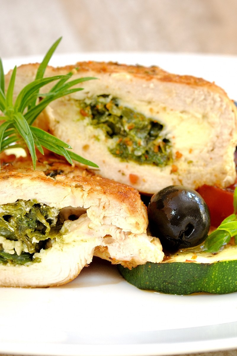 Feta, Spinach And Caramelized Onion Stuffed Chicken Breasts Recipes ...