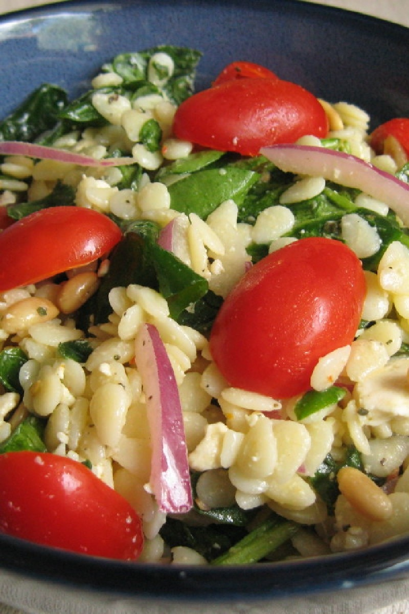 Spinach and Orzo Salad | KitchMe