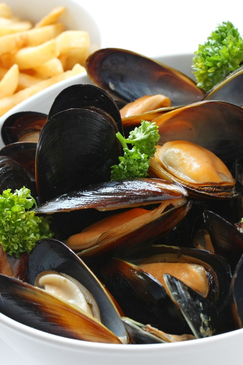 Classic Steamed Mussels In White Wine With Garlic Bread | KitchMe