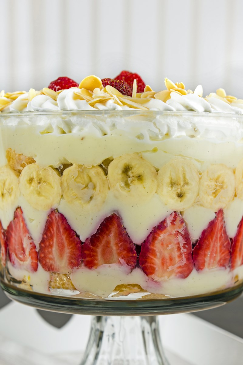 Easy Strawberry Banana Trifle Kitchme