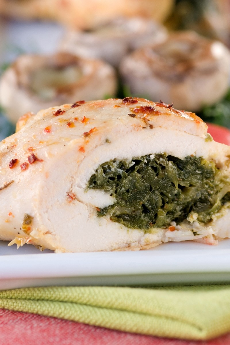 Stuffed chicken divan with a sherry dijon sauce kitchme forumfinder Images