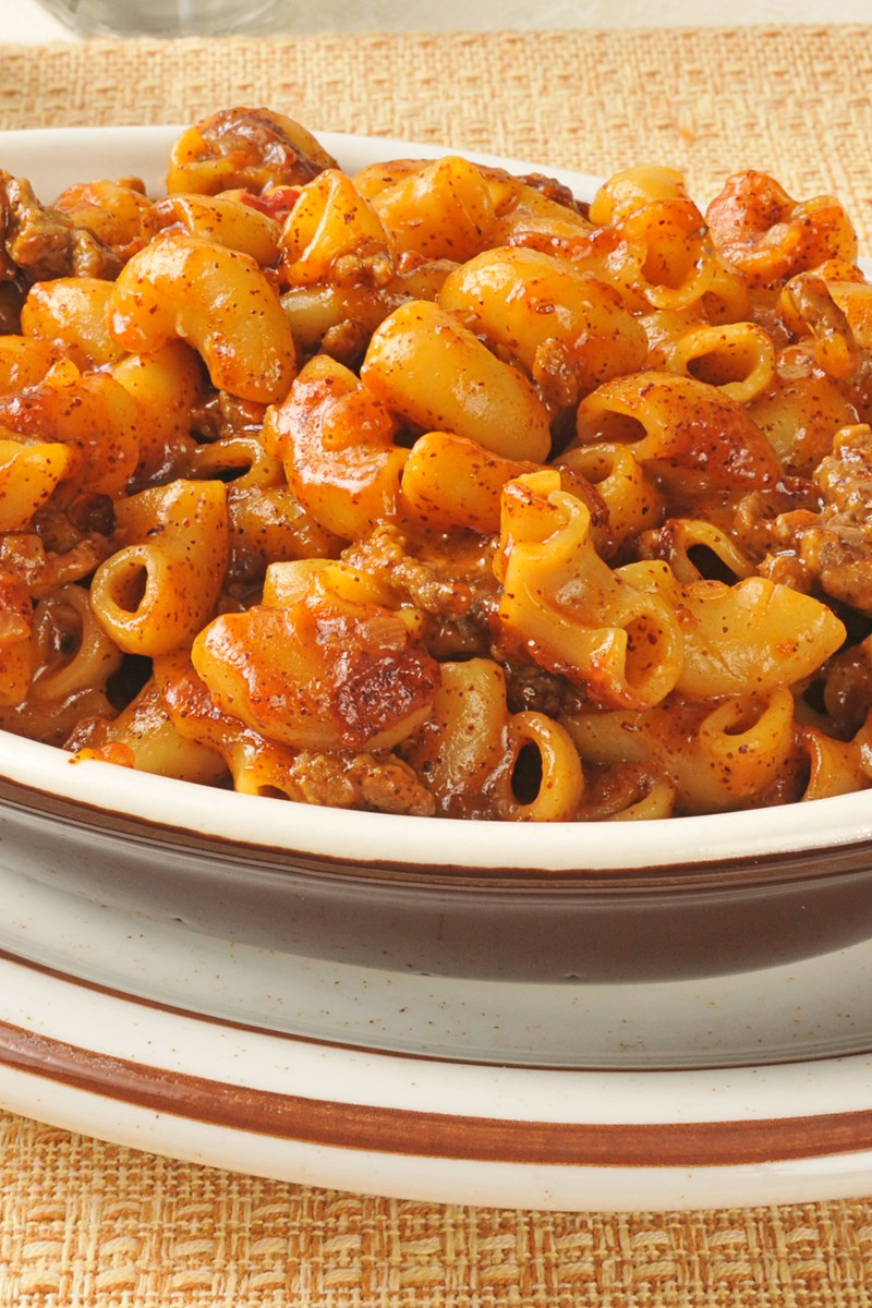 recipe: macaroni and cheese with ground beef casserole [18]