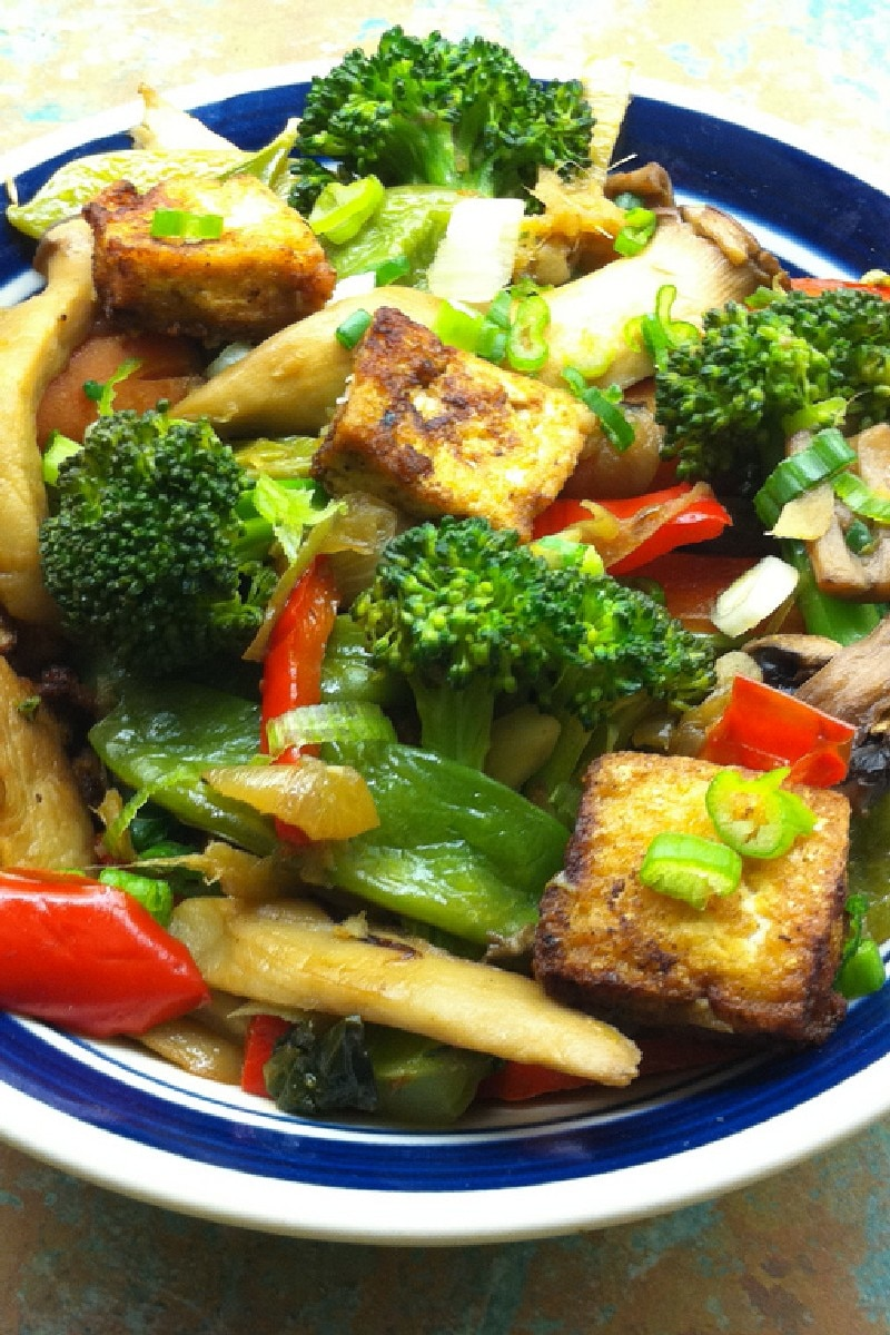 Tofu and Veggies in Peanut Sauce | KitchMe