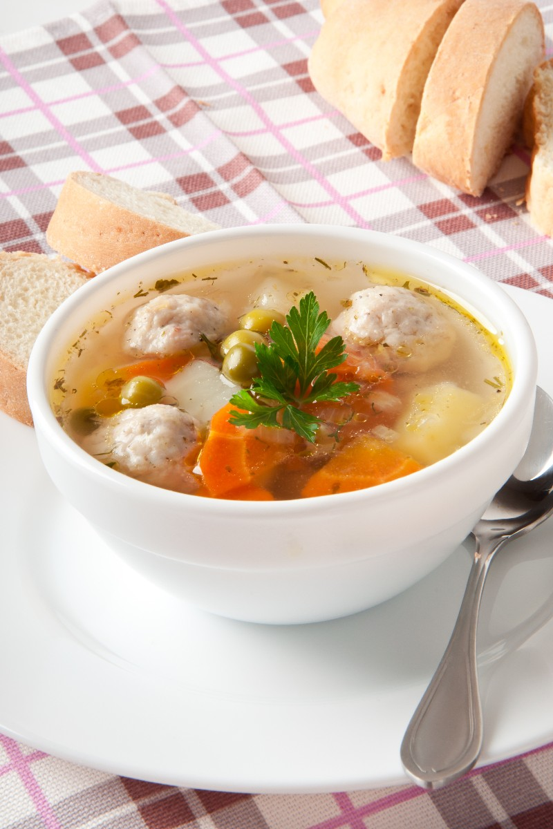 Turkey Vegetable Soup With Stuffing Dumplings Kitchme