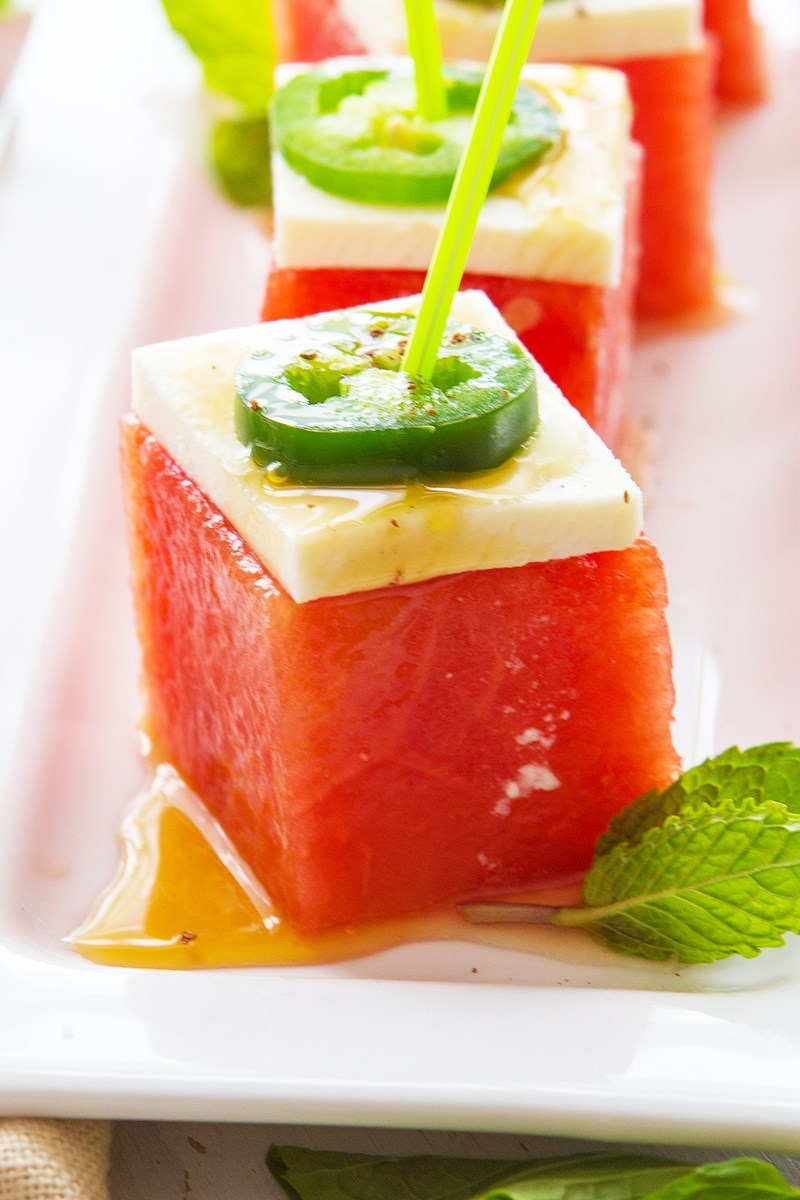 Cook Meals: Watermelon Jalapeno Cubes With Honey Lime Dressing