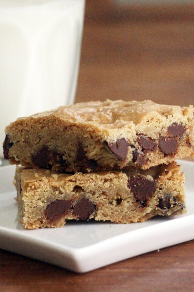 Chocolate Chip Cake Mix Cookie Bars Weight Watchers Kitchme