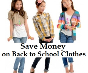 save money on back to school clothes featured