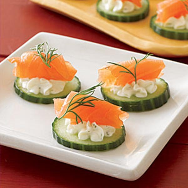 Easy appetizers for your holiday festivities for Salmon canape ideas