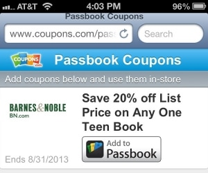 How to Save Coupons to Passbook