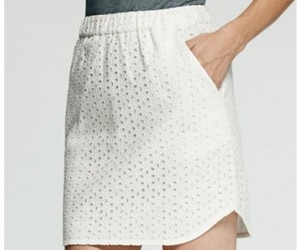 peter som solid eyelet skirt