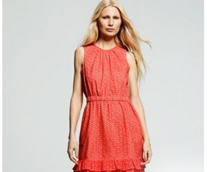 peter som solid eyelet dress