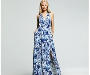 peter som splatter maxi dress