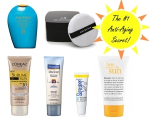 sunscreen is the number one anti-aging secret