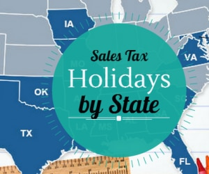 sales tax holidays by state featured