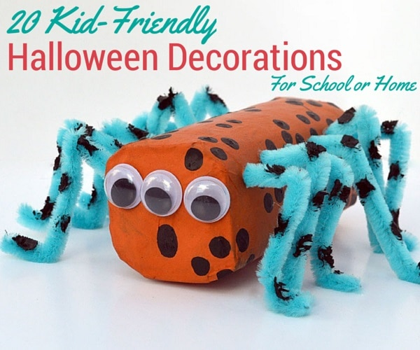 20 kid friendly halloween decorations for school or home for Halloween decorations to make at home for kids