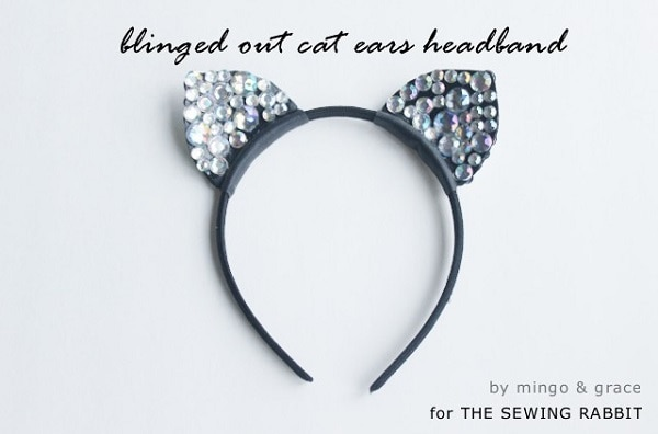 Blinged Out Cat Ears headpiece