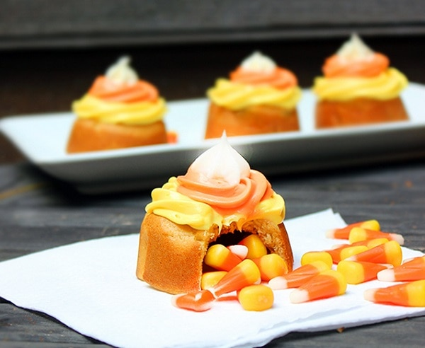 Candy Corn Piñata Cups