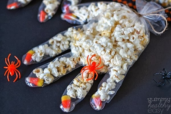 Candy Corn Popcorn Hands